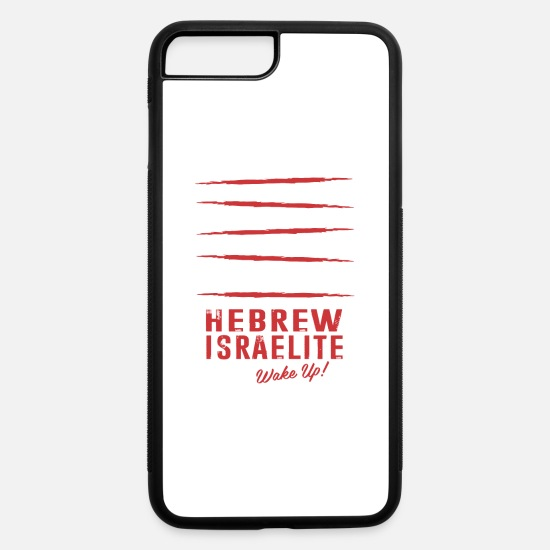 Black iPhone Cases - Hebrew Israelite - iPhone 7 & 8 Plus Case white/black