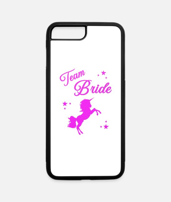 Bachelorette iPhone Cases - Team Bride - iPhone 7 & 8 Plus Case white/black