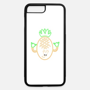 Pineapple Dancing Pineapple Neon Rock Hands Glow Party Fruit - iPhone 7 Plus/8 Plus Rubber Case