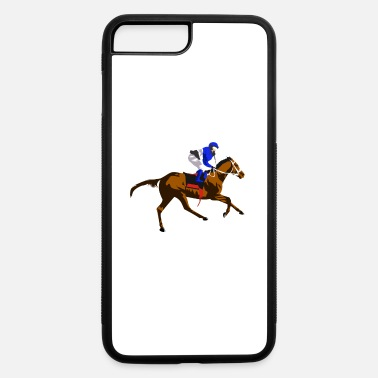 Gallop gallop race horse equestrian gift idea - iPhone 7 Plus/8 Plus Rubber Case
