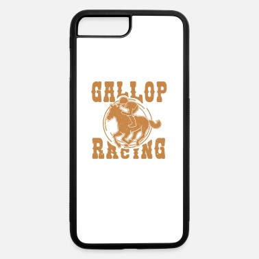 Gallop gallop racing horse equestrian gift idea - iPhone 7 Plus/8 Plus Rubber Case