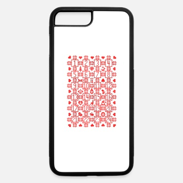 Countdown Design Advent Christmas Calendar Countdown December - iPhone 7 & 8 Plus Case