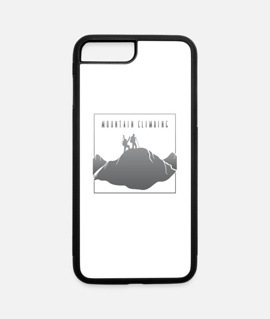 Mountains iPhone Cases - Mountain Climbing Grey - iPhone 7 & 8 Plus Case white/black