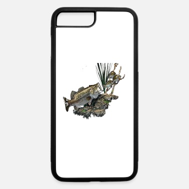 Bass Vintage Distressed Bass Fishing Taxidermy Print12 - iPhone 7 Plus/8 Plus Rubber Case