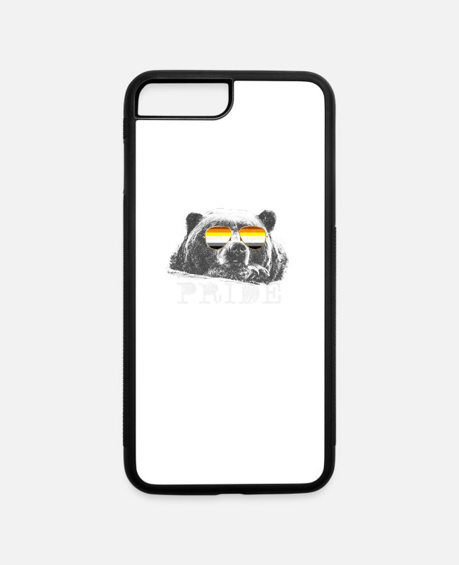 Proud iPhone Cases - LGBT Bear Flag Glasses Gay Pride - iPhone 7 & 8 Plus Case white/black