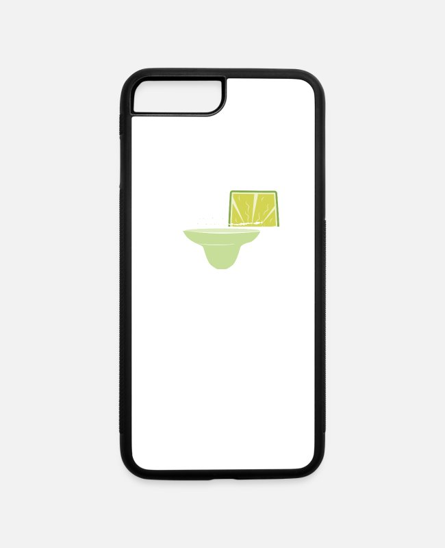 Cinco De Mayo iPhone Cases - Wyoming Lime Margarita July 4th Skinny Margarita Shirt - iPhone 7 & 8 Plus Case white/black