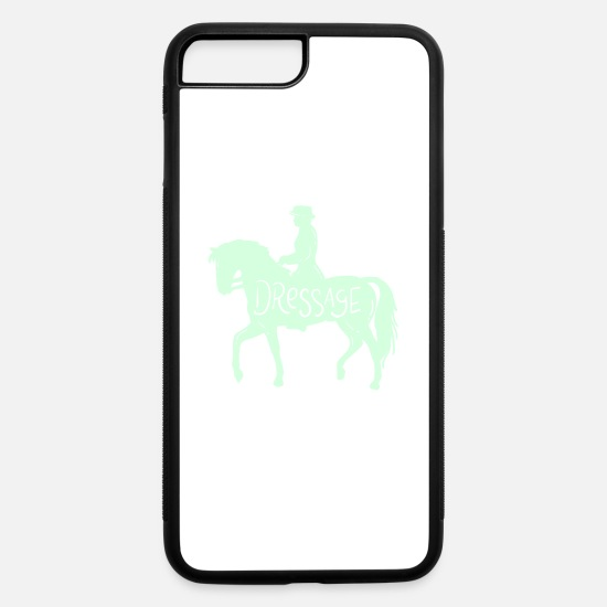 Wife iPhone Cases - dressage horse training rider gift idea - iPhone 7 & 8 Plus Case white/black