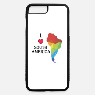 America I Love South America with Heart and Colorful logo - iPhone 7 & 8 Plus Case