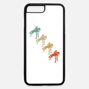 Show Jumping Retro Vintage Style Horses Riding Show Jumping - iPhone 7 Plus/8 Plus Rubber Case