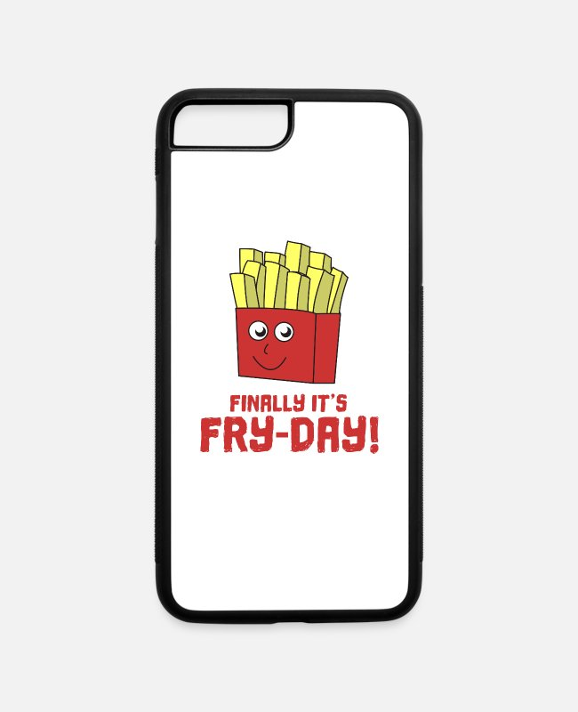 Roast iPhone Cases - Awesome Trend Design Fryday Tshirt Finally it s - iPhone 7 & 8 Plus Case white/black