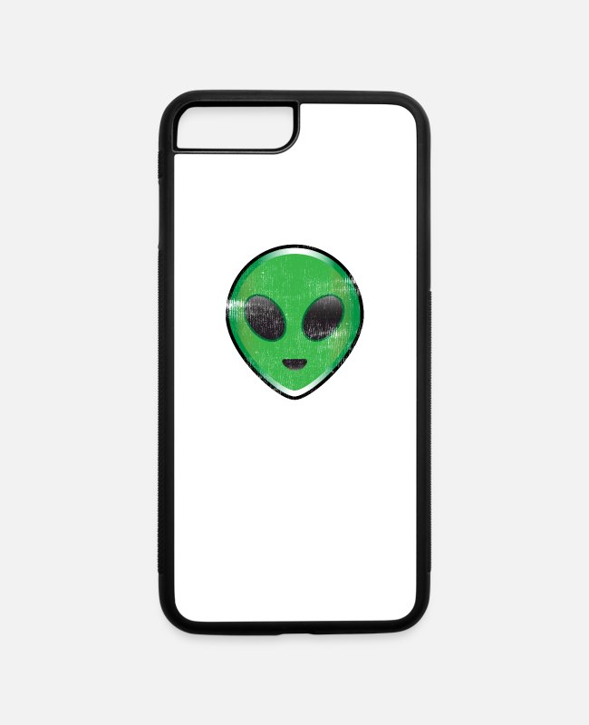 Space iPhone Cases - Alien Believe, Extraterrestrial Believer UFO Geeks Nerds Science Fiction - iPhone 7 & 8 Plus Case white/black
