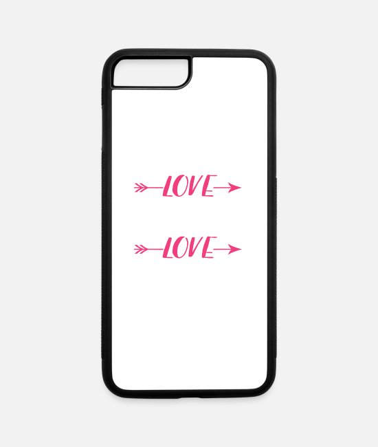 Sport iPhone Cases - Real woman love - iPhone 7 & 8 Plus Case white/black