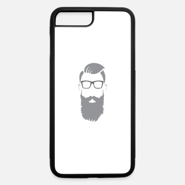 Undercut Beard Bearded Hipster Earpods Airpods Hairstyle - iPhone 7 & 8 Plus Case