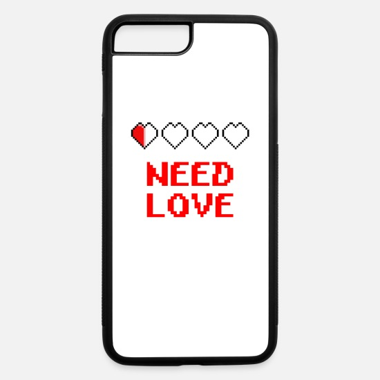 Love iPhone Cases - need love - iPhone 7 & 8 Plus Case white/black