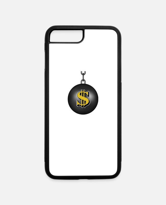 Ball iPhone Cases - Financial Wrecking Ball - iPhone 7 & 8 Plus Case white/black