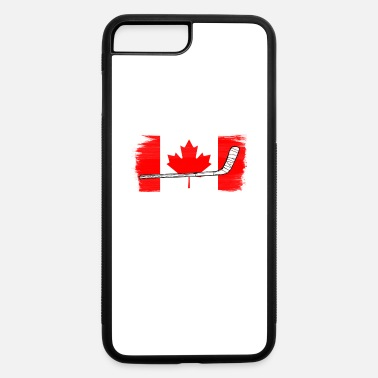 Hockey Canada Flag Hockey Stick - iPhone 7 & 8 Plus Case