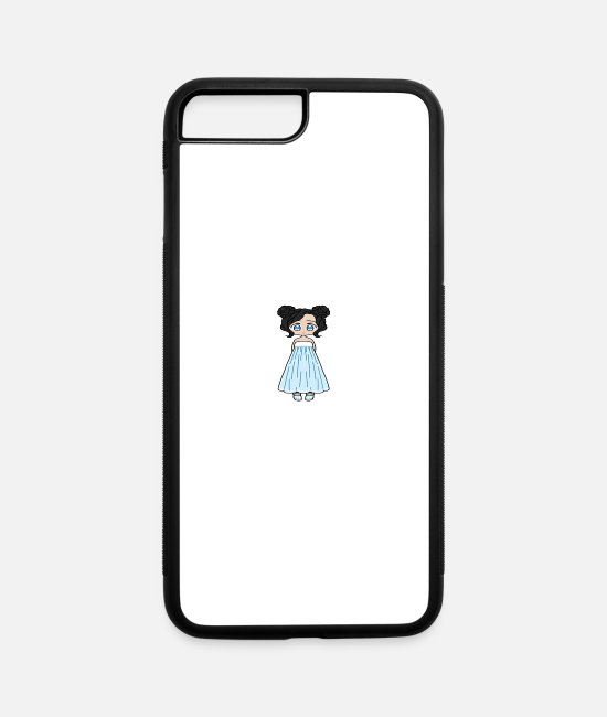 Anime iPhone Cases - Cute Anime African Girl - iPhone 7 & 8 Plus Case white/black