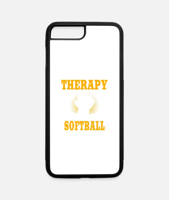 Therapy iPhone Cases - Softball - iPhone 7 & 8 Plus Case white/black