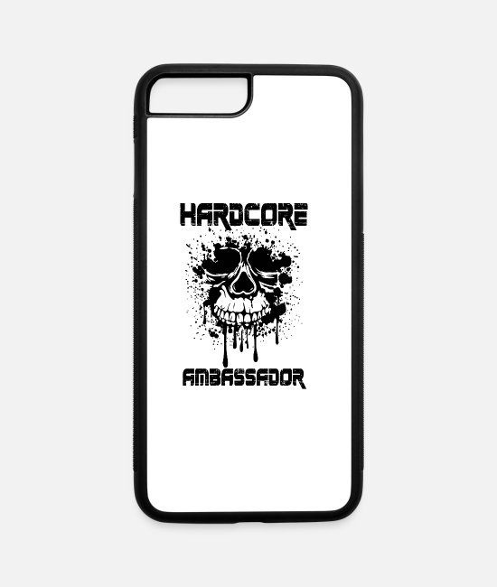 Turn Table iPhone Cases - Hardcore Ambassador - iPhone 7 & 8 Plus Case white/black