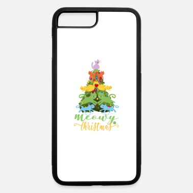 Christmas Cat Lover Merry Meowy Christmas Tree Cat Holiday Gift - iPhone 7 Plus/8 Plus Rubber Case