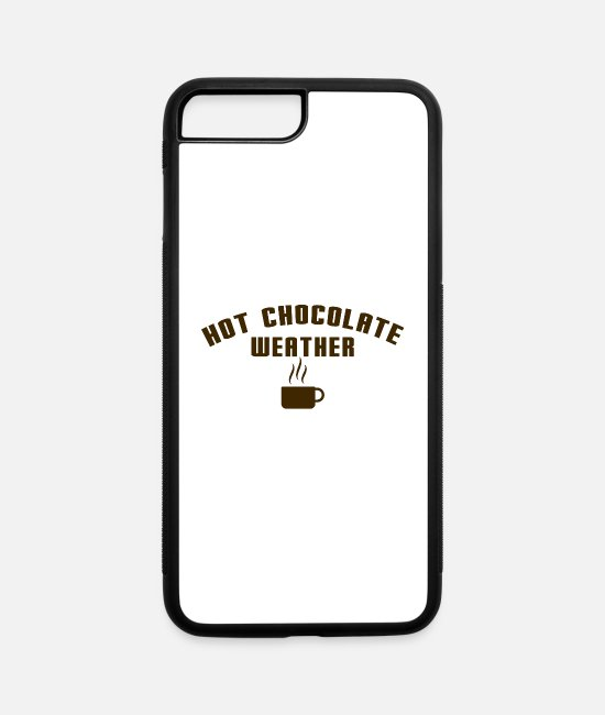 Mulled Wine iPhone Cases - Hot Chocolate Weather - iPhone 7 & 8 Plus Case white/black