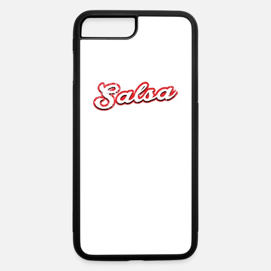 Dancing iPhone Cases - salsa - vintage & distressed - iPhone 7 & 8 Plus Case white/black