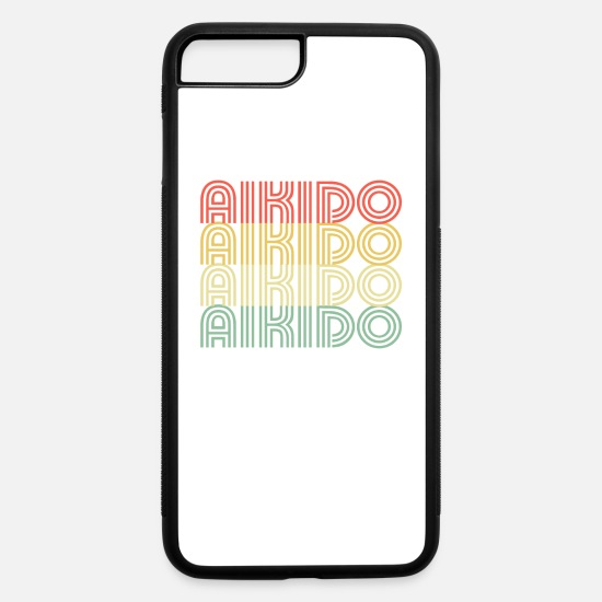 Wingtsun iPhone Cases - Aikido Distressed Design - iPhone 7 & 8 Plus Case white/black