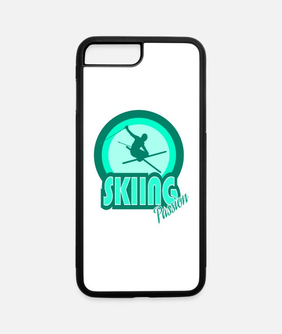 Mountains iPhone Cases - Skiing - iPhone 7 & 8 Plus Case white/black