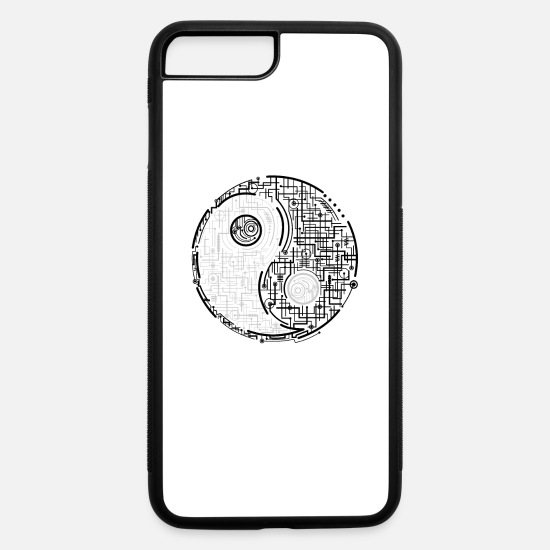 Love iPhone Cases - Fancy Yin Yang Electro Design - iPhone 7 & 8 Plus Case white/black