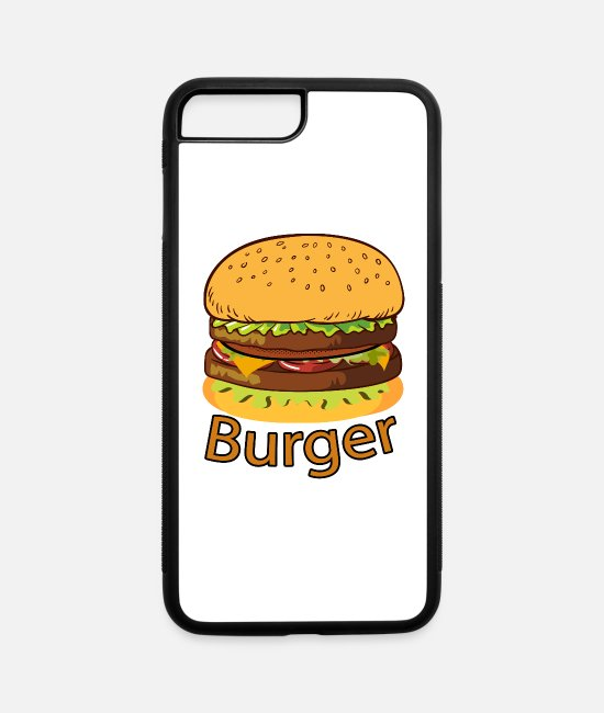 Yummy iPhone Cases - Tasty Burger - iPhone 7 & 8 Plus Case white/black
