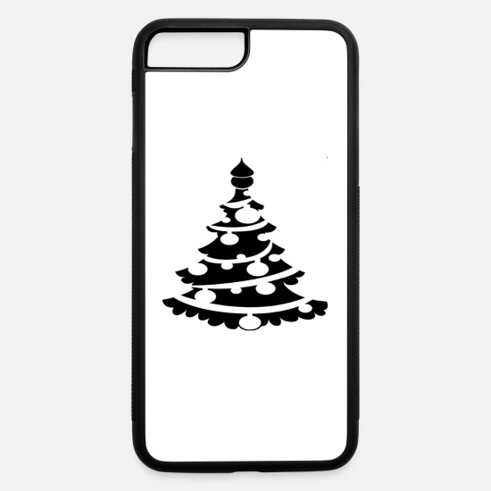 "White iPhone Cases - Funny ""Christmas Tree"" T-Shirt White Shirt - iPhone 7 & 8 Plus Case white/black"