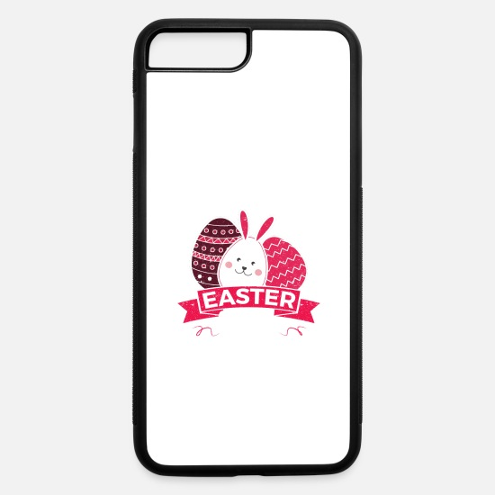 Easter Bunny iPhone Cases - Bunny Kisses Easter Wishes Easter Bunny Gifts - iPhone 7 & 8 Plus Case white/black