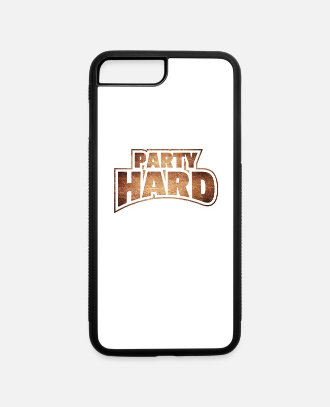 Party iPhone Cases - Party hard - iPhone 7 & 8 Plus Case white/black