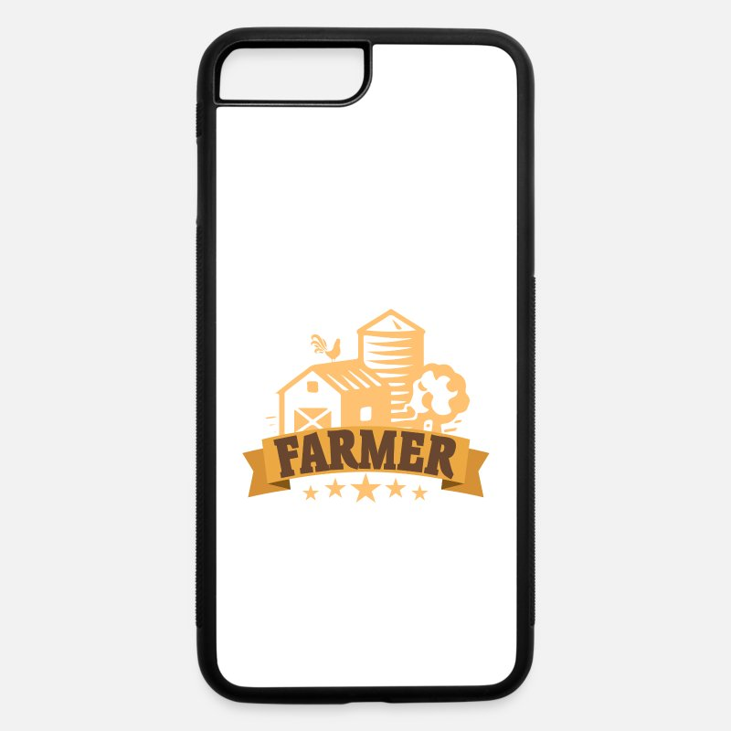 Cow iPhone Cases - Tractor Shirt - Agriculture - Farmer - iPhone 7 & 8 Plus Case white/black