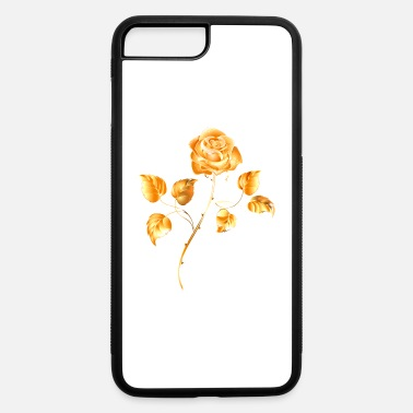 Golden rose gold flower jewelry vip vector image - iPhone 7 & 8 Plus Case
