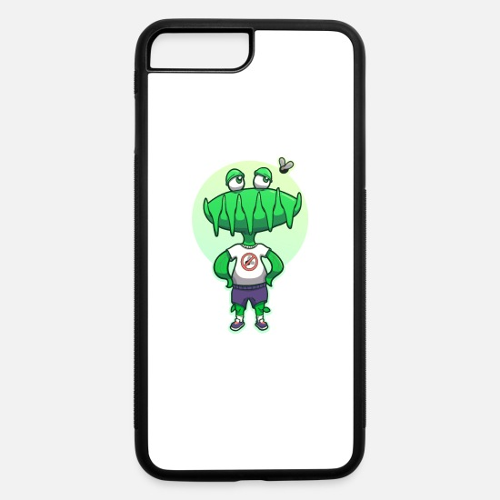 No iPhone Cases - Plants and Flowers Venus Flytrap Funny No Fly Zone - iPhone 7 & 8 Plus Case white/black