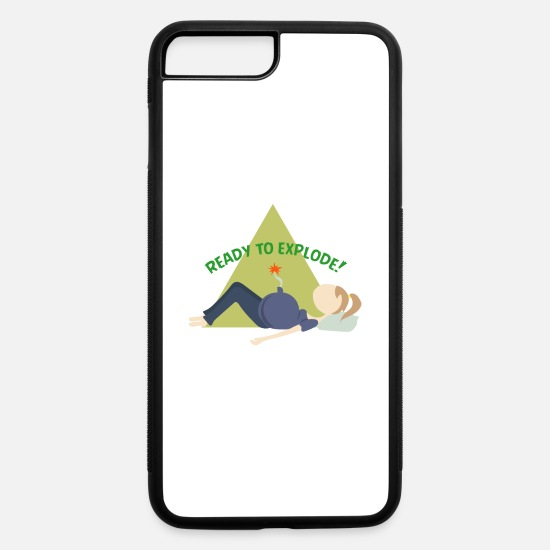 Pregnancy iPhone Cases - Funny Pregnancy Designe | Perfect tshirt Gift Idea - iPhone 7 & 8 Plus Case white/black