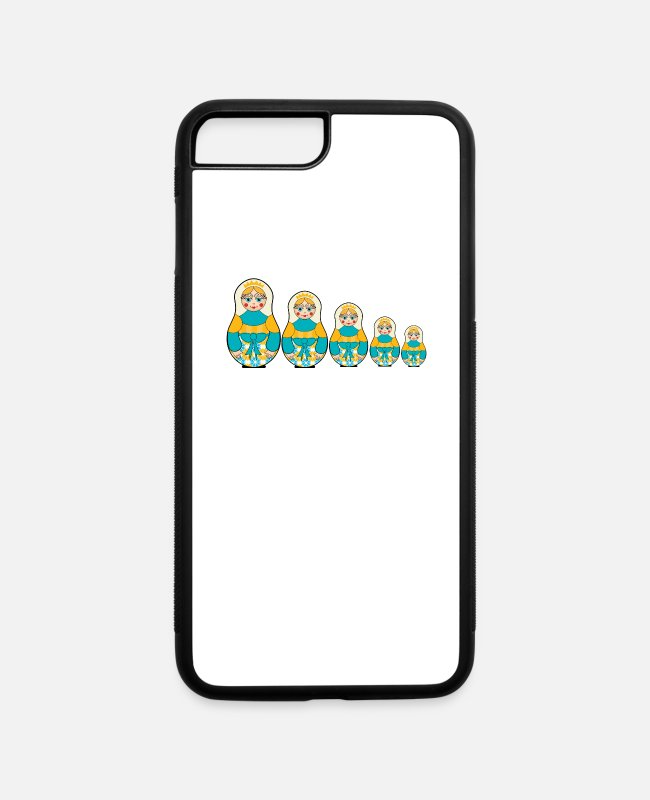 Nesting iPhone Cases - Matryoshka Shirt Russian Doll T-Shirt Babushka - iPhone 7 & 8 Plus Case white/black