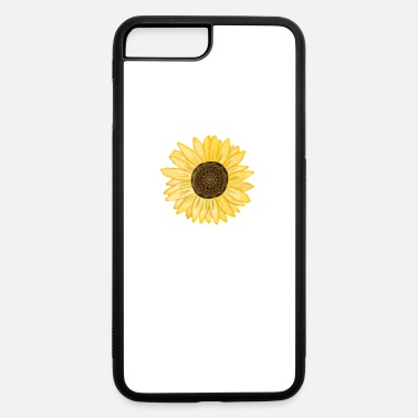 Mandala Sunflower Natural Watercolor Pattern - iPhone 7 & 8 Plus Case