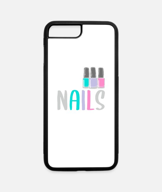 Nail Tech iPhone Cases - Nail Tech Beautician, Nails Repeat Expert, Nail - iPhone 7 & 8 Plus Case white/black