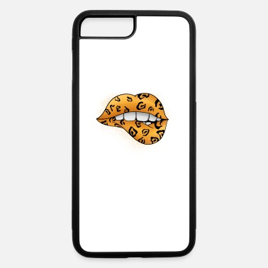 Kiss Cool Lips Kiss Me Leopard Cheetah Shirt Gift Idea - iPhone 7 & 8 Plus Case