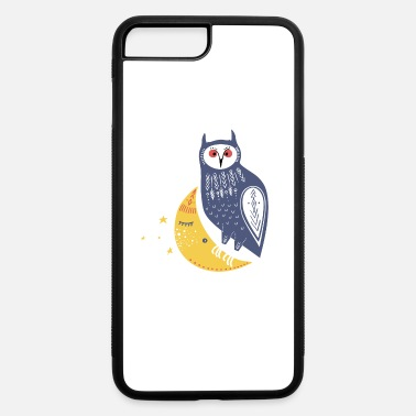 Whimsical Whimsical Owl Sitting on the Moon - iPhone 7 & 8 Plus Case