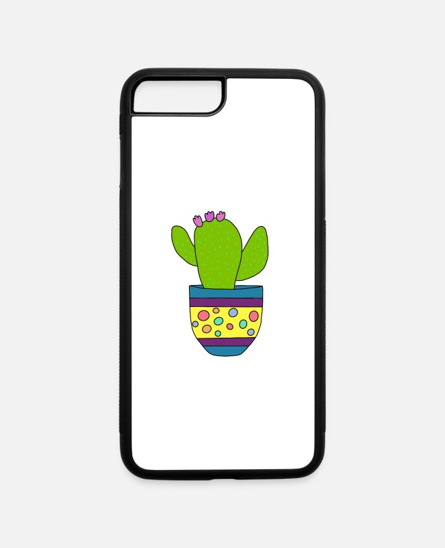 Cactus iPhone Cases - Just Give Me A Hug Cactus - iPhone 7 & 8 Plus Case white/black
