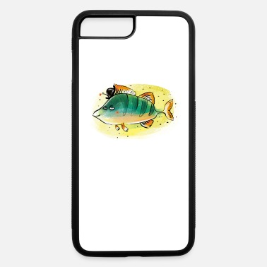 Happy River Fish Happy River Fish Perch Fishing Gift Fisherman - iPhone 7 & 8 Plus Case