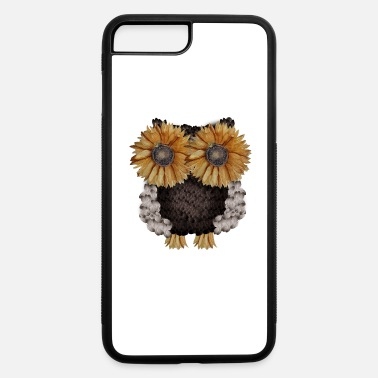 Owl Owl made of sunflower seeds - iPhone 7 & 8 Plus Case