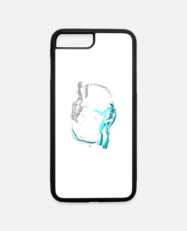 Master iPhone Cases - Astronaut in Space & Scuba Diver in Water Deep Sea - iPhone 7 & 8 Plus Case white/black