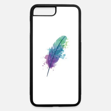 Bright Watercolor Feather in bright colors - iPhone 7 & 8 Plus Case