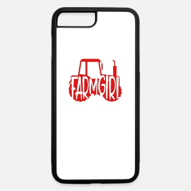 Tractor Tree Christmas Farmer Farmer Gift Home Farm Girl Red Tractor Farming - iPhone 7 & 8 Plus Case