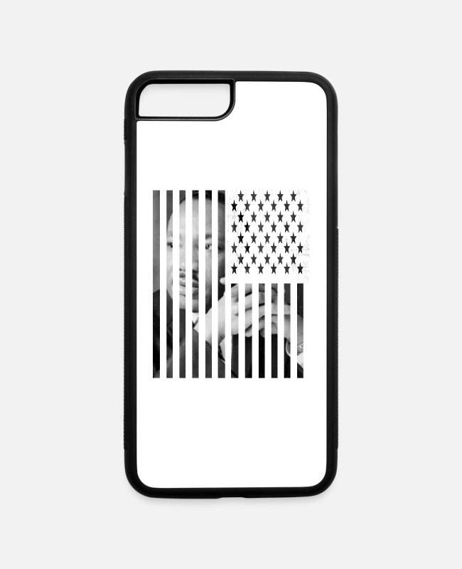 Usa iPhone Cases - MLK American Flag - iPhone 7 & 8 Plus Case white/black