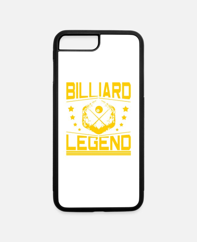 Billiard Ball iPhone Cases - Billiard Cue Billiard Ball Snooker Pool Gift - iPhone 7 & 8 Plus Case white/black
